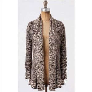 Anthropologie Moth Open Front Cardigan O2405